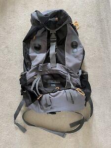 Regatta Adventure Tech 85L Rucksack Backpack Walking Grey & Black With Raincover