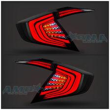 LED Smoked Tinted Tail Lights For Honda Civic 10Th Gen 4DR Sedan 2016 2017