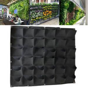 Garten Pflanzenwand Grün Pflanzen Wand Pflanztasche Pflanzbeutel Kräutertasche