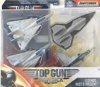 Matchbox Top Gun Maverick Legends Past&present Diecast Fighter Jet 4 Pack