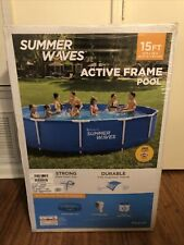 New listing Summer Waves 15ft Active Metal Frame Pool With 600Gph Filter Pump