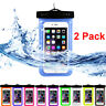 2 Pack Swimming Waterproof Underwater Pouch Bag Pack Dry Case for smart Phone RF