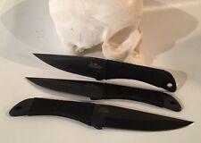 Gill Hibben Large Throwing Knife Set Of Three Black Finish GH0947B