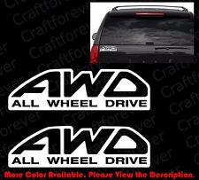 1 Pair x AWD ALL WHEEL DRIVE Racing Vinyl Decal Car Window Subie WRX RC025