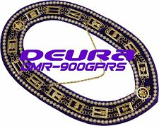 Masonic Collar DELUXE OES Order of EASTERN Star PURPLE Backing DMR-900GPRS