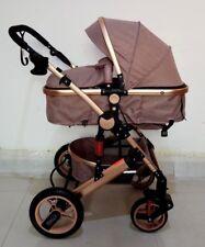Kinderwagen Alu 3in1 Kombi-Kinderwagen Autositz Buggy Koplettset Coffee-Leinen 1