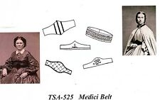 Civil War Style Women's MEDICI BELTS & CUMMERBUNDS Timeless Stitches TSA-525