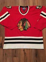 Vintage 90S Starter Chicago Blackhawks Hockey Jersey Size Xl