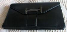 ladies unbranded fashion inspired shoulder handbag c/w clutch handle - black