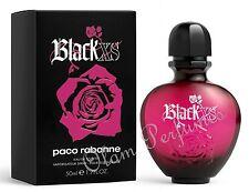 Black XS For Women by Paco Rabanne Eau de Toilette Spray 1.7oz 50ml *New in Box