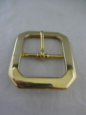 Clip Corner Solid Brass Western Belt Buckle 1 1/2 Inch Utility Work New Horse