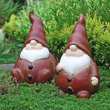 Gartenfiguren & -skulpturen aus Terrakotta mit Gartenzwerge-Motiv