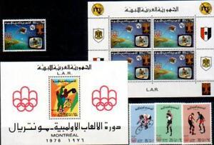 Libyen Mi. 531-533, Bl. 21, Bl. 31A  (5584
