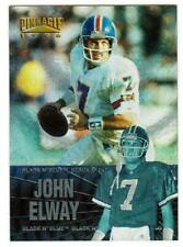 1996 PINNACLE # 9 of 25 JOHN ELWAY BLACK N' BLUE