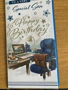 SPECIAL SON MEDIUM SIZE BIRTHDAY CARD