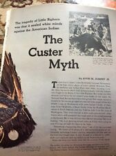 N1-8 Ephemera 1972 Picture Article Custer Little Big Horn The Myth Folded