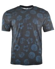 NEW MEN'S SANDRO PARIS FLORAL PRINT T-SHIRT BLACK BLUE TROPICAL SUMMER FLOWER