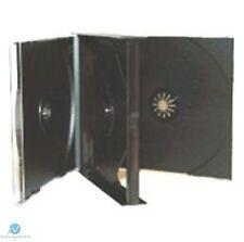 20 x 4 VIE NERO CD JEWEL CASE 23 mm DORSO contiene 4 dischi ricambio CASE