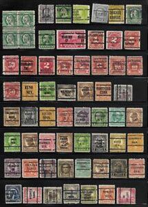 Lot of 100+ Precancel US Stamps - - - All Precancels - - -