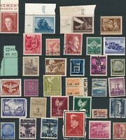 Lot Stamp Germany Poland Norway WWII 3 Reich Hitler Azad Feldpost Kreis MNG U F