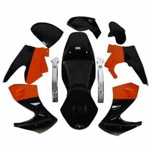 HMParts Pocket Bike Verkleidung Set komplett schwarz / orange