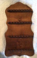 Vintage Souvenir Spoon Display Rack - Size 18 1/2� X 10�