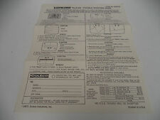 +++ COLECO TELSTAR SYSTEM CONSOLE Trouble Shooting GUIDE SHEET ONLY oem