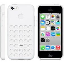 Original Genuino Apple Iphone 5c Silicona Dot Funda-Blanco mf039zm/a