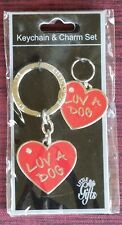 Luv A Dog Keychain & Charm Set