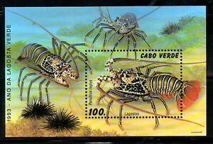 CABO VERDE, 1993, LOBSTER, M/S,MNH,