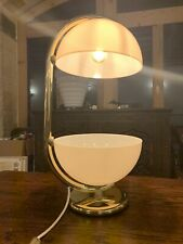 Vintage Retro Italian Table Lamp, Elio Martinelli Luce, Huge 60's/70's, Gold