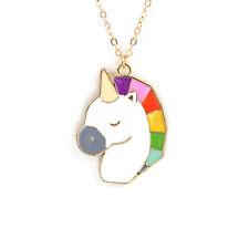 UNICORN PENDANT NECKLACE / Chain Jewellery Gift Idea Rainbow Kawaii Fairytale