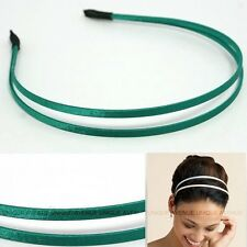 CELEBRITY DOUBLE HAIR HEADBAND GOSSIP GIRL GREEN HB1043