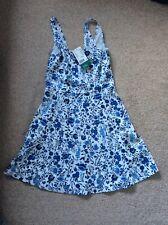 H&M Womens Blue Floral Dress Bnwt Size 10