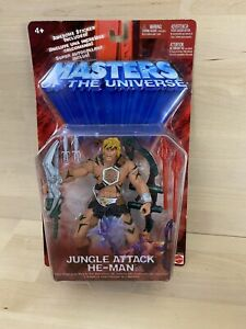 He Man Jungle Attack Mattel Masters of the Universe Action Figure New Sealed