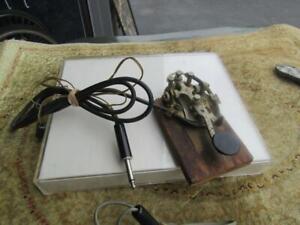 "Vintage Telegraph key Mounted On Wood Base 3x5"""