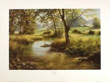 "DAVID DIPNALL ""Riverside"" ENGLISH stream countryside! SIZE:30cm x 46cm  RARE"