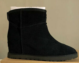 UGG CLASSIC FEMME MINI, 1104609 BLACK SIZE 9, AUTHENTIC BRAND NEW WOMAN BOOT