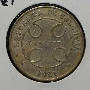Colombia 1921 50 Centavos  290303 combine shipping