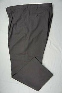 Brioni Cannes Pleated Wool Dress Pants, Slacks. Black, Tag 38R (35X28.5). Read.