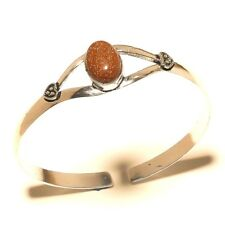 New Silver Plated Sunstone Cuff Bracelet Bangel Gemstone Jewelry
