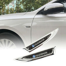 Chrome Metal Car Trunk Side Fenders Door Emblem Badge Sticker For VOKLSWAGEN Car