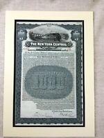Americana Magazzino Bond Certificato il New York Centrale Ferrovia Company 1920s