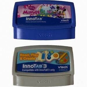 2 VTech Games Innotab Disney Minnie Mouse Bowtique & InnoTab 3 Read,Play, Create