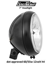 "Hard Drive Motorcycle Headlight Black Assembly 12v 60/55w H4 7"" Victory"