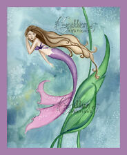 PERFECT SEAS Mermaid Print from Original Painting By Camille Grimshaw sea fairy
