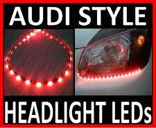 "RED 24"" LED SIDE SHINE HEAD BRAKE MIRROR LIGHT STRIP DRL HEADLIGHT STRIPS #B8"