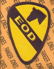 "Us Army 1st Cavalry Division Eod Ordnance Bomb 5"" patch"