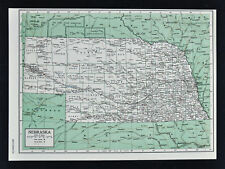 1849 Britannica Map - Nebraska - Omaha Lincoln Lincoln Sioux City Scotts Bluff