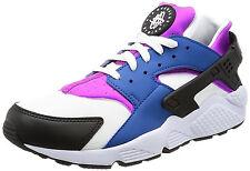 NIKE Air Huarache Run Running Training Shoes Mens 8 Blue Jay/Hyper Violet/Black